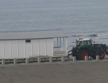 Strandtenten plaatsen